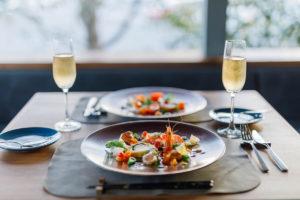 Véli・Voliの庭をイメージして 和洋折衷で彩った前菜